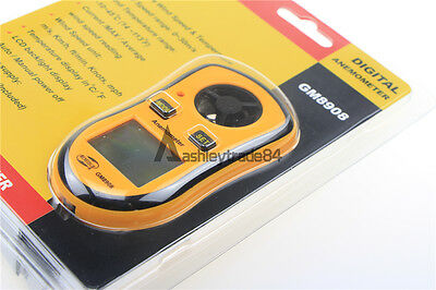 Digital LCD Pocket Anemometer Thermometer Wind Speed Air Velocity Gauge GM8908