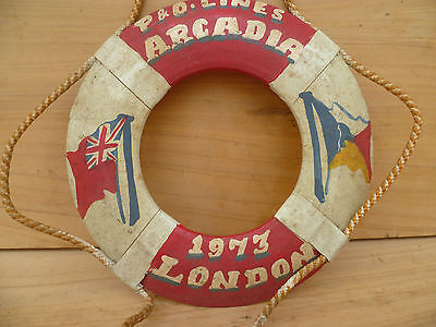 Old  Australian, English P & O Lines Arcadia Life Buoy (189)