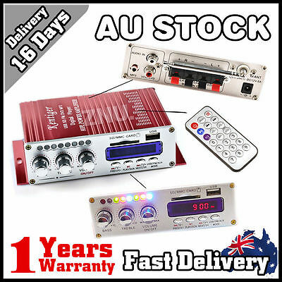 Small 2Ch Hi-Fi Subwoofer Stereo Audio Amplifier Amp Car Motorcycle DC 12V