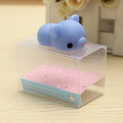 Blue Piggy Squishy Squeeze Pig Cute Healing Toy Collection Stress Reliever Gift