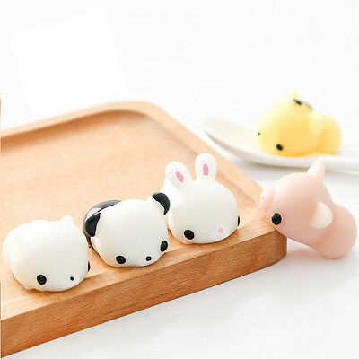 6PCS Seal Chicken Tiger Pig Bunny Bear Squeeze Squishy Healing Toys Collection