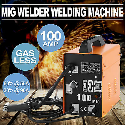 Gasless MIG 100AMP Welder Welding Machine Portable 4 Stage Industrial HOT