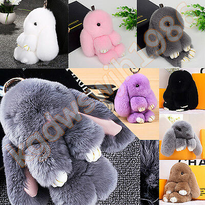 Cute Bunny  Bag Handbag Keychain Pom Ball Key Chain Ring Pendant newest