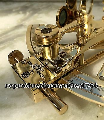 Vintage Solid Brass Ship Sextant Collectible Survey Navigation Astrolabe Sextant