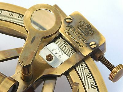 Antique Solid Brass Working Sextant Handmade Survey Ship Collectible Sextant