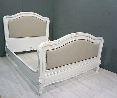 Shabby Chic French Upholstered King Bed (BR222)