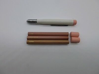 F/S Set Midori Brass Pencil (38062) White +Refill Pack (38070) Japan Import
