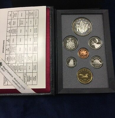1994 Royal Canadian Mint Double Dollar Proof Set in Original Box w/COA