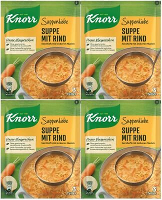 Knorr BEEF & NOODLE Soup Mix, DOUBLE PK: 2x 3 Portion Packs, Imported, Free Post