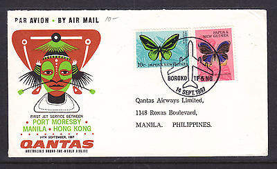 Flight Cover:  1967 Qantas Flight Cover Png To Philippines