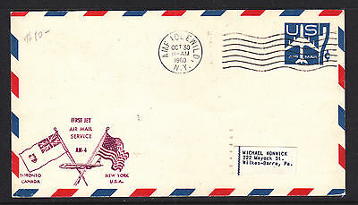 Flight Cover:  1960  New York  Toronto First Jet Air Mail Service Am-4