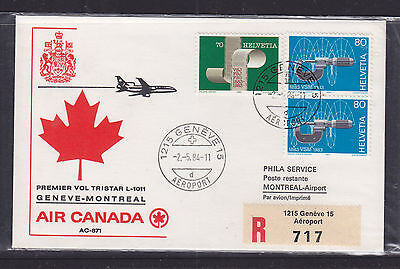 Flight Cover:  1984 Air Canada Flight Cover  Geneve To Montreal
