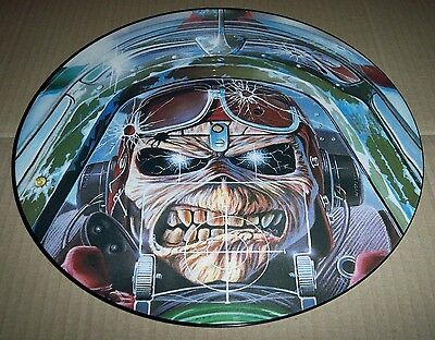 "IRON MAIDEN Aces High - 12"" PICTURE DISC, 3 Track, EMI, 12 EMI P 5502, 1984, EX+"