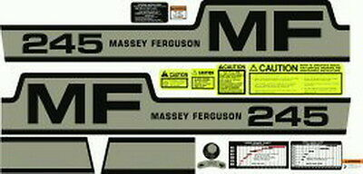 New 245 Massey Ferguson Tractor Complete Decal Set Gas High Quality Decals