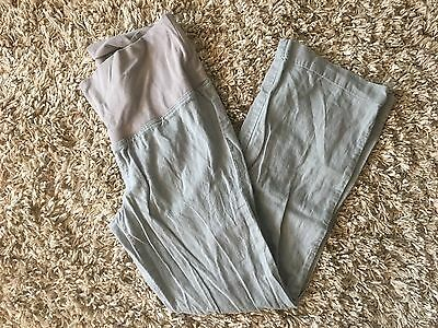 Women's Old Navy Maternity Pants Linen Blend Gray Size Small S
