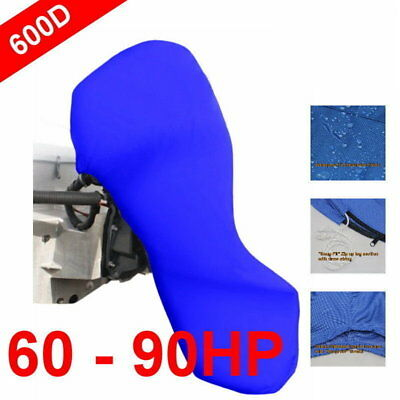 60-90hp Full Outboard Boat Motor Engine Cover Dust Rain Protection Blue
