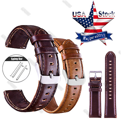 20 22mm Quick Release Leather Watch Band Wrist Strap For Samsung Gear s2 S3