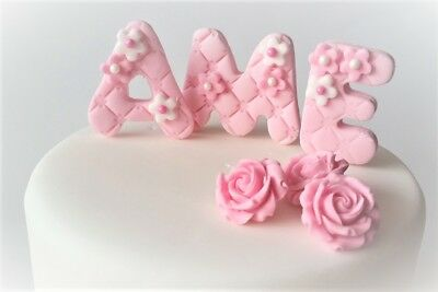 christening cake topper baby shower baby cloths edible personalised decoration