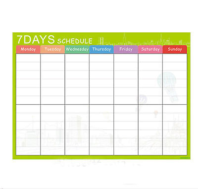 7 days schedule Fridge Board Magnetic Pen Notice Memo Planner Whiteboard Large
