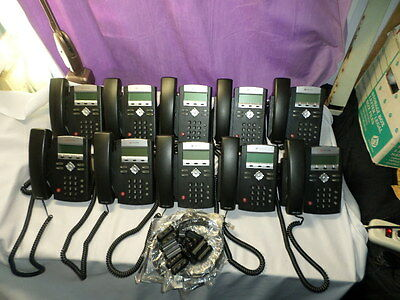 """Lot of 10  Polycom IP 335 VoIP PoE Phones 2201-12375-001 """"A"""" Grade Defaulted 456"""
