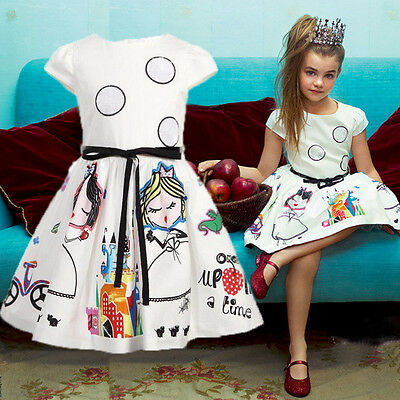 Toddler Baby Girls Princess Sleeveless Dress Wedding Party Pageant Dresses us