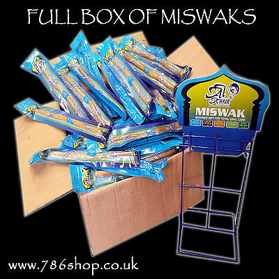 Full Box 144  - Natural Toothbrush Miswak / Miswaks, Arak, Siwak, Peelu ( NEW )
