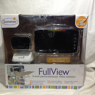 Summer Infant Full View 5-Inch Pan Scan Zoom Video Baby Monitor