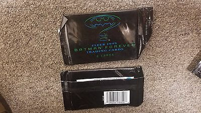 1995 Fleer Batman Forever Trading Card Set 6 cards per package sealed never open