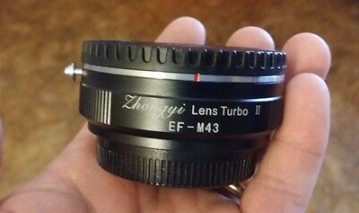 Zhongyi Mitakon Lens Turbo II 2 Adapter Focal Reducer Canon EF to MFT Olympus
