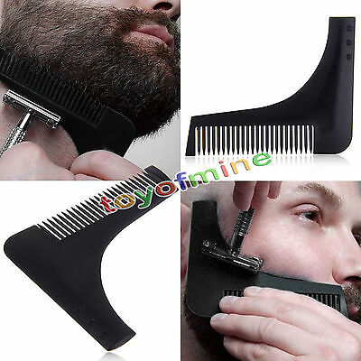Professional Beard Shaping Shaving Tool Comb for Perfect Lines & Symmetry New