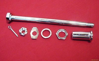 New Chrome Rear Axle Kit For Harley Spacers Shovelhead Fx Fl 67-72 Oem 41552-67