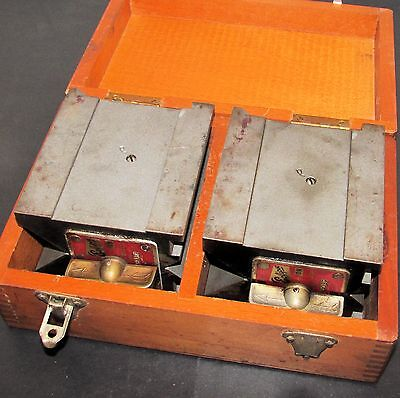 Pair Eclipse Magnetic V Blocks w/Wooden Box No. 934