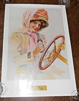 1909 When Dusters Were In Vogue Coca-Cola Poster Print Art 20 1/2 X 14 1/2