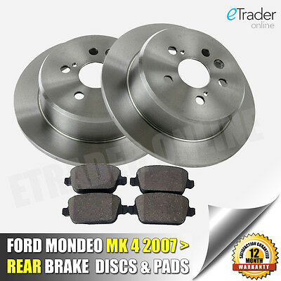 Ford Mondeo Mk4 Rear Brake Discs & And Pads 2007 NEW Premium Quality