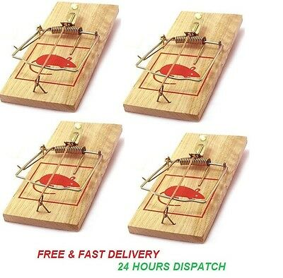 "New 7"" Wooden Rat Mouse Trap Large Traditional Classic Pest Control Reusable"