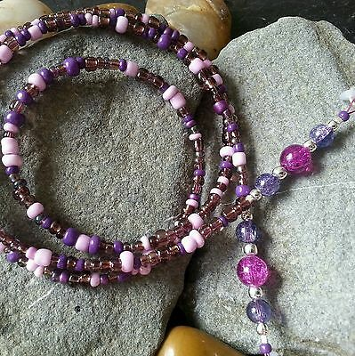 Glasses Chain Purple Pink - Spectacle Sunglasses Cord - Eyeglass Holder - Strap