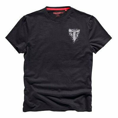 Triumph Motorcycles Dalston Black Cotton T-Shirt Tee Graffiti Logo MTSS17033