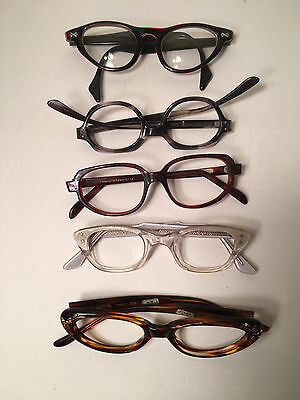 Lot of 5 Vintage Cat Eye Glasses Frames  Romco SAFILO CARINA + FREE SHIPPING F
