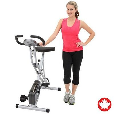 Exerpeutic Upright Indoor Home Sports Health Monitoring Exercise Bike with Pulse