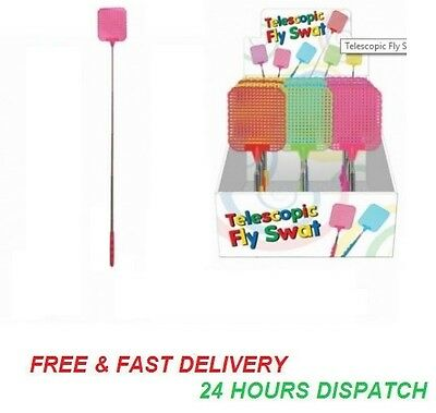 New BUG MOSQUITO WASP KILLER Flies EXTENDABLE FLY SWATTER TELESCOPIC INSECT SWAT