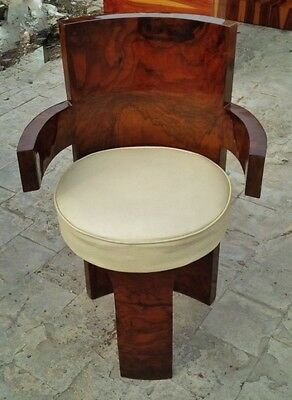 Gorgeous classical forms Art Deco style Walnut Chair