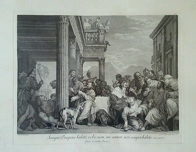 Rare Antique Picture Etching by Giovanni Volpato 1772