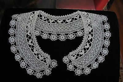 Two Handmade Ivory Cyprus Lace Collars And A Jabot