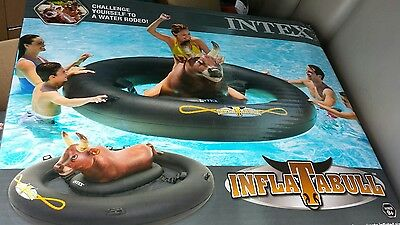 INFLATABULL GIANT BULL-RIDING Inflatable Swimming Pool Water Ride On Float INTEX