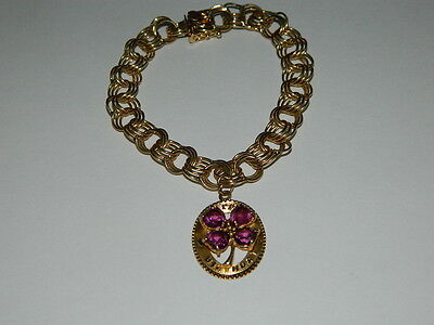 Vintage 14k solid yellow gold Charm bracelet charms 17.57 grams