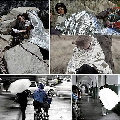 210*160cm Thermal Silver Survival First Aid Aluminum Foil Emergency Blanket