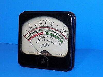 Hickok Tube Tester Meter Ac 510X  For 500 Series Measures In Micromhos