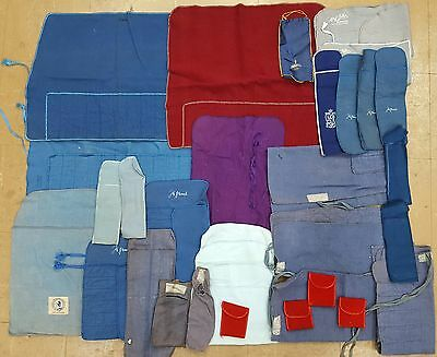 Assortment Of 32 Felt Storage Bags / Pouches For Sterling Silver Pieces Flatware