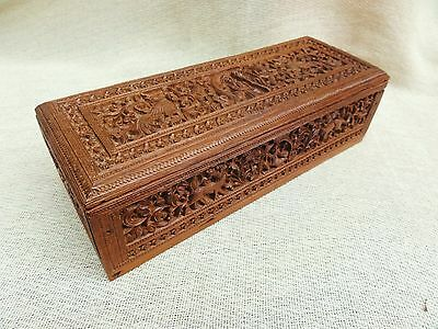 A Carved Anglo Indian Sandalwood Box From Mysore