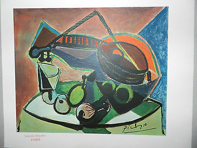 Pablo Picasso Vintage Genuine 1946 Lithograph still life Art Print Hand Signed